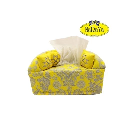 JatujakMall. NARAYA Sofa Design Tissue Box Cover - Yellow