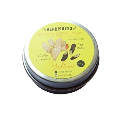 Picture of Beeswax Herbal  Balm, Yellow: Turmeric, Phlai Essence