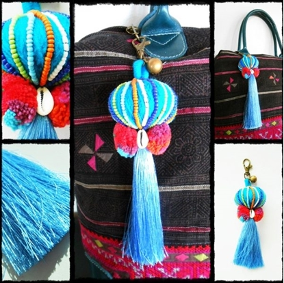 Picture of Chinese Lantern Keychain Zip Pull Bag Accessory Decoration by Handmade