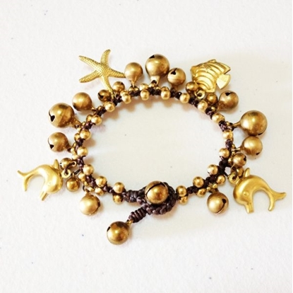 Picture of Beautiful Brass Bell Bracelet with Brass Bells & Beads
