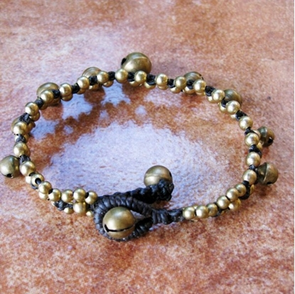 Picture of Beautiful Stones Bracelet with Brass Bells