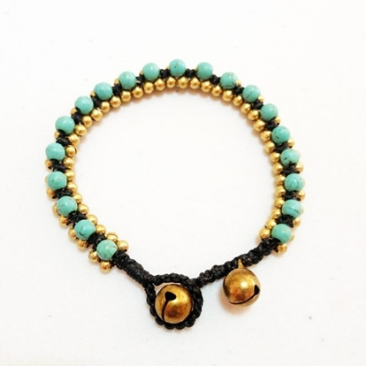 Picture of Beautiful Bracelet made with Beaded Stone and brass beads