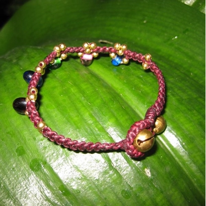 Picture of Bead stone Bracelet with brass beads