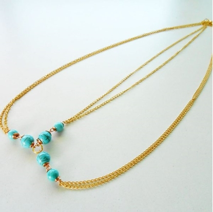 Picture of Hair Chain Accessory, Summer Golden & Silver Chains