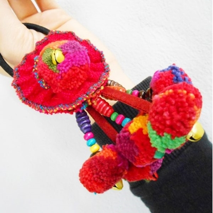 Picture of Pom Poms Elastic hair bands