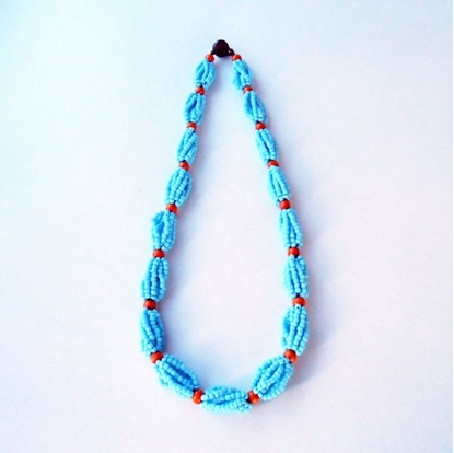 Picture of Beads Statement Necklace, Beadwork Necklace Handmade Thailand Jewelry