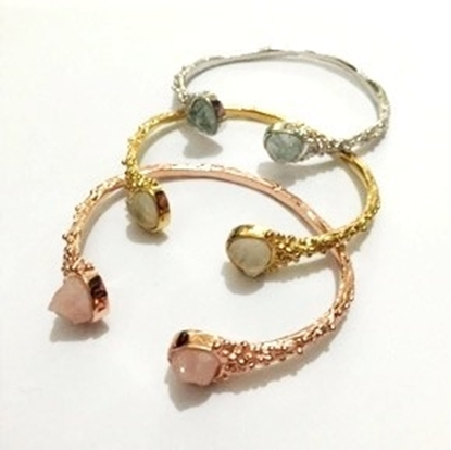Picture of Handmade Bubble with Stone Bangle