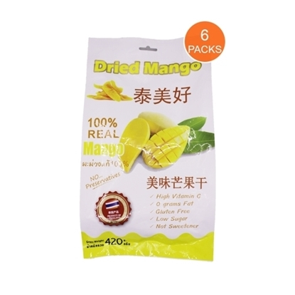Picture of DRIED MANGO (100% Real Mango)  - 6 Packs