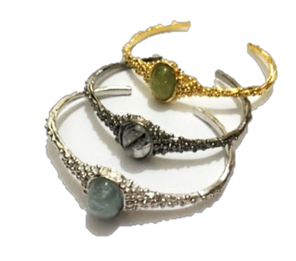 Picture of Handmade Bubble Big Stone Bangle