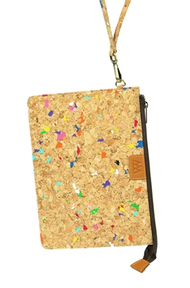 Picture of Varicolored Eco Style Cork Clutch