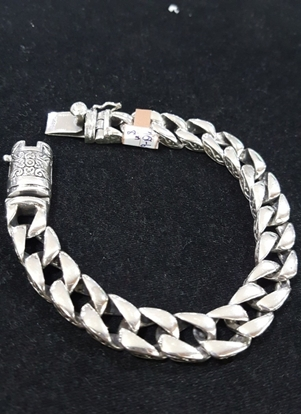 Picture of Handmade Black Oxidided Silver Bracelet - Chain