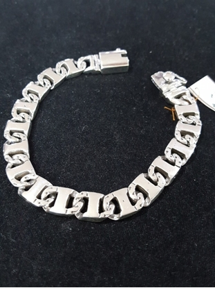 Picture of Handmade Black Oxidided Silver Bracelet - Flat Chain