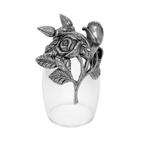 Picture of 12 Months of Flowers LIQUOR SHOT GLASS ROSE