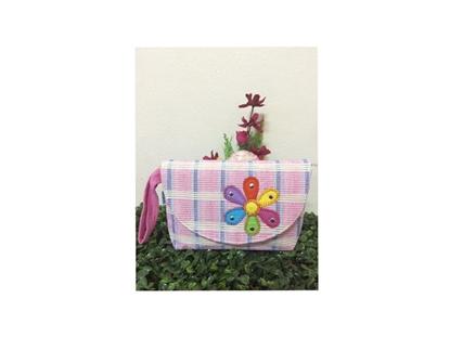 Picture of กระเป๋าเครื่องสำอาง แบบมีฐานและมีฝาปิด ลายดอกไม้