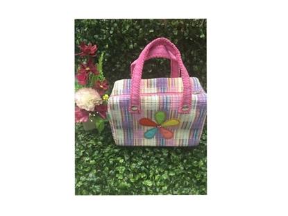 Picture of กระเป๋าเครื่องสำอาง แบบหูหิ้ว ลายดอกไม้ ไซส์เล็ก