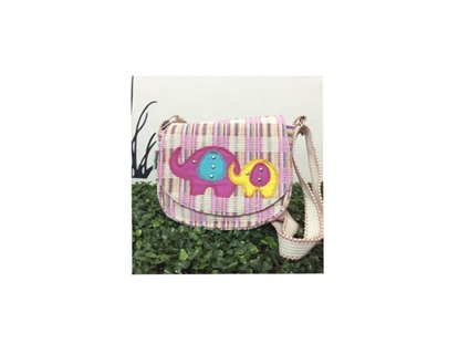Picture of Elephant Box Crossbody Bag with Flap closure