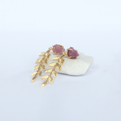 Picture of Handmade Leaf Earrings