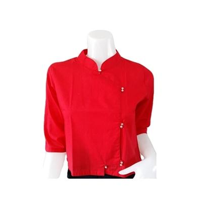Picture of เสื้อผ้าป่าน สีแดง