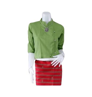 Picture of เสื้อผ้าป่าน สีเขียวใบตอง