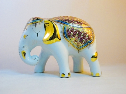 Picture of Elephant benjarong 6 inches-Nha Singha design