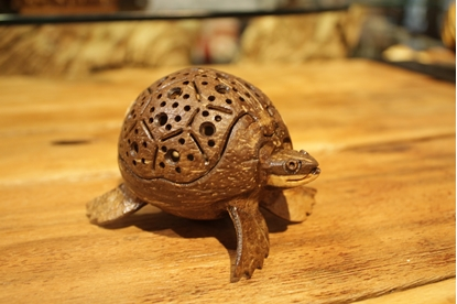Picture of Creative Turtle Coconut Shell Scent Holder Size 9 cm.