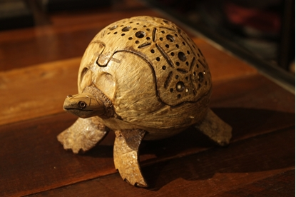 Picture of Creative Turtle Coconut Shell Scent Holder Size 13 cm.