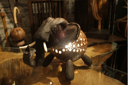 Picture of Coconut shell craft LED Lamp - Elephant
