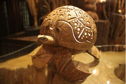 Picture of Coconut shell craft LED Lamp - Turtle