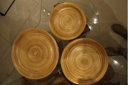 Picture of Bamboo tray - Size 25 cm.