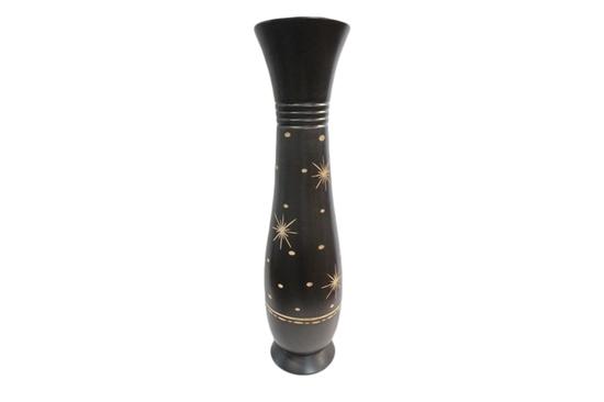 Jatujakmall Black Mango Wood Vase Star Pattern Size 20