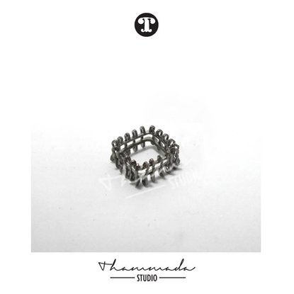 Picture of BLACK SQUARE STUCTURE RING
