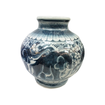 Picture of BLOOMING Porcelain Jar - Thai Elephant pattern