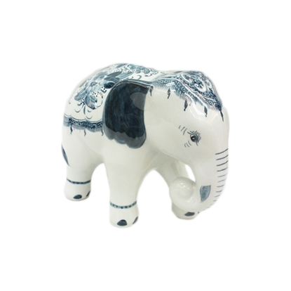 Picture of BLOOMING Thai Native Elephant Porcelain Doll