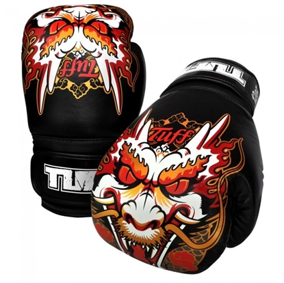 Picture of Tuff MuayThai Gloves Black with Dragon Design
