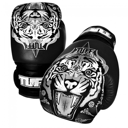 Picture of Tuff MuayThai Gloves Tiger Black