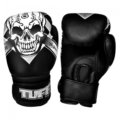Picture of Tuff MuayThai Gloves Skull Black