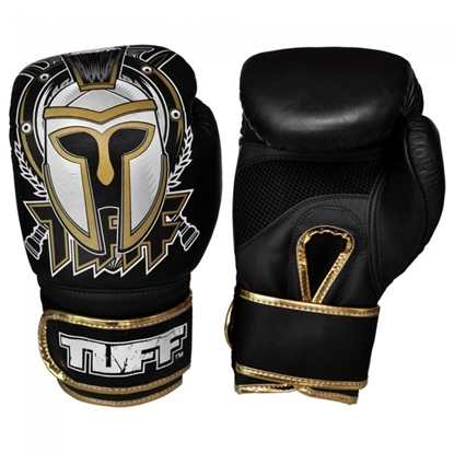 Picture of Tuff MuayThai Gloves Black with Gladiator Design