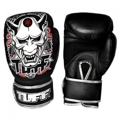 Picture of Tuff MuayThai Gloves Black with Demon Design