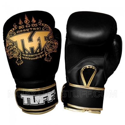 Picture of Tuff MuayThai Air Gloves Black Gold with New Logo