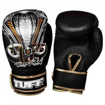 Picture of Tuff MuayThai Gloves Black with Snake Design