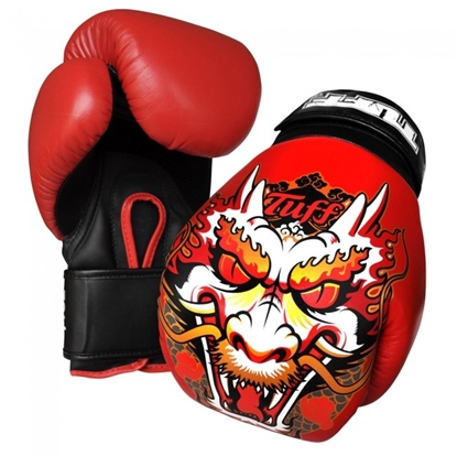 Picture of Tuff MuayThai Gloves Red with Dragon Design