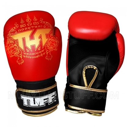 Picture of Tuff MuayThai Air Gloves Red Gold with New Logo