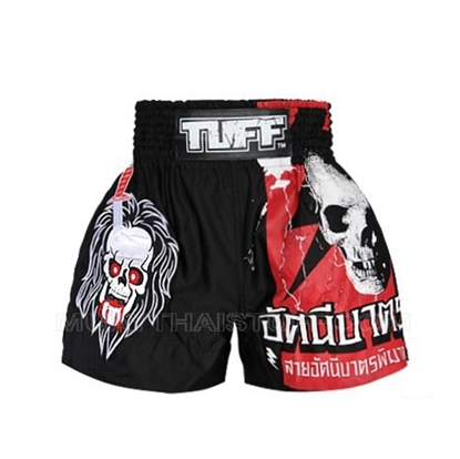 Picture of TUFF Muay Thai Boxing Shorts Black