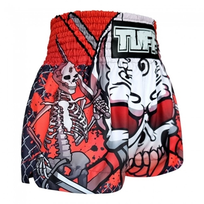 Picture of TUFF Muay Thai Boxing Shorts Double Skeleton With Devil Skull