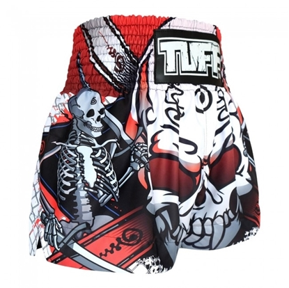 Picture of TUFF Muay Thai Boxing Shorts Devil Skull With Double Skeleton