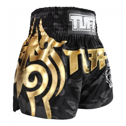 Picture of TUFF Muay Thai Boxing Shorts Black Camo Army Camouflage