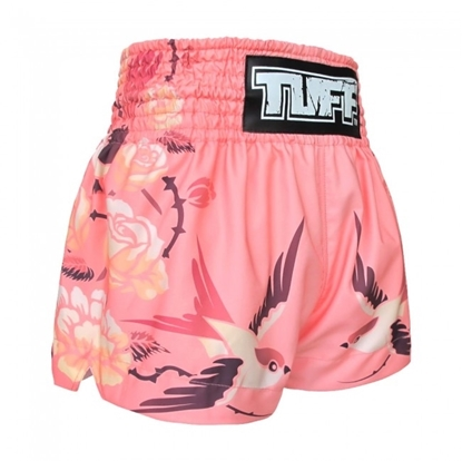 Picture of TUFF Muay Thai Boxing Shorts Birds And Roses Inspired by Ancient Drawing