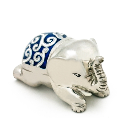 Picture of Loyfar Pewter Decorated Crouching Elephant Paper Weight