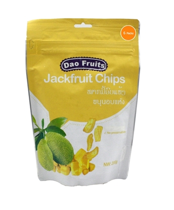 Picture of  Dao Jack Fruit Chips (6packs x 200g)