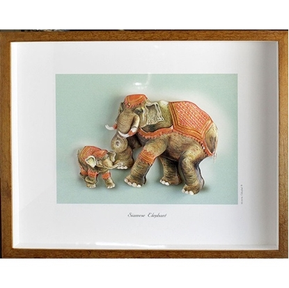 Picture of Siamese Royal Elephant 3D Picture Frame